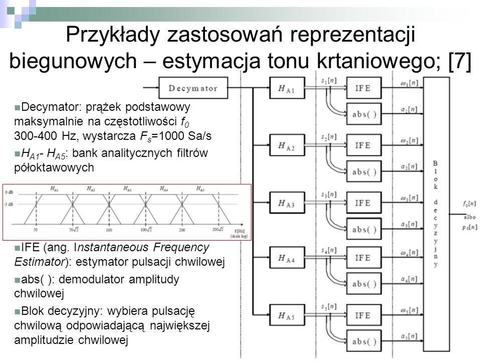 Przykłady zastosowań reprezentacji biegunowych – estymacja tonu krtaniowego; [7]